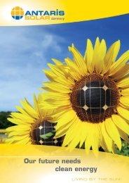 Our future needs clean energy - ANTARIS SOLAR