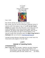 CE E-Letter June 4, 2012 - First Congregational UCC Washington DC
