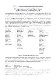 Die Registrierungen von Daniel Magnus Gronau für die Orgel von St ...