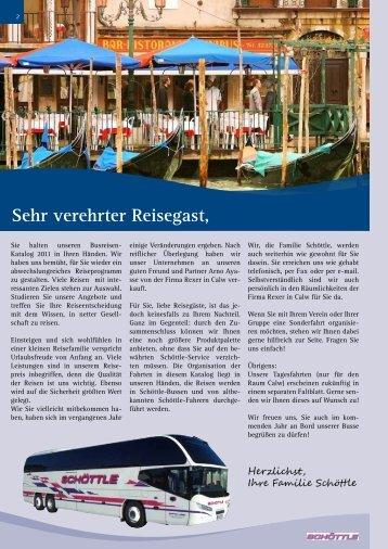 Sehr verehrter Reisegast, - schoettle-reisen.de