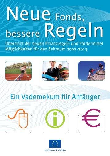 Broschüre über EU-Fördermittel für KMU