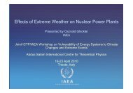 Effects of Extreme Weather on Nuclear Power Plants - ICTP