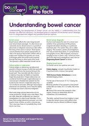 Understanding bowel cancer - Bowel Cancer UK