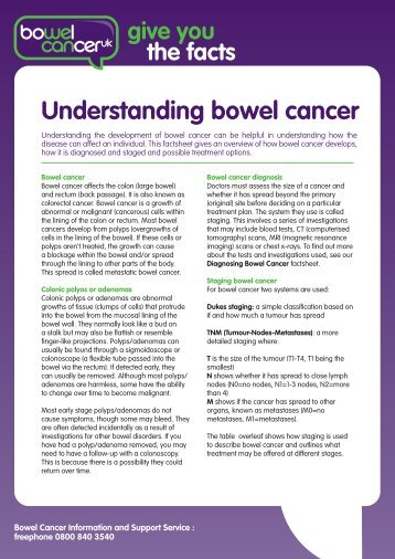 Understanding bowel cancer - Bowel Cancer UK