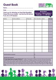 Get your guests to fill in this handy form and don ... - Bowel Cancer UK