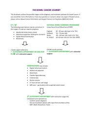 This factsheet outlines the possible stages on ... - Bowel Cancer UK