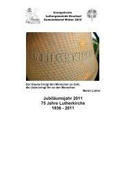 Gemeindebrief Winter 2010 - Luthergemeinde Bruchsal