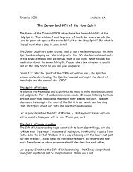 The Seven-fold Gift of the Holy Spirit - The Order of the Daughters of ...