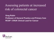 Use of Risk Assessment Tools - Bowel Cancer UK