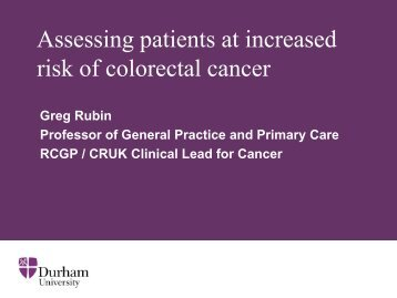 Use of Risk Assessment Tools - Bowel Cancer UK