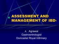 ASSESSMENT AND MANAGEMENT OF IBD- - Bowel Cancer UK