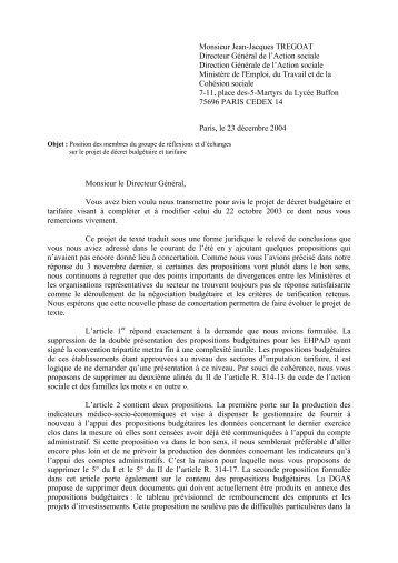 Monsieur Jean-Jacques TREGOAT Directeur Général de l ... - Uniopss
