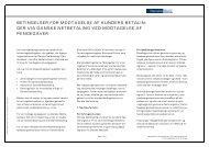 Betingelser for modtagelse af kundens betalinger via ... - Danske Bank