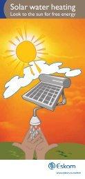 Solar water leaflet - Eskom IDM