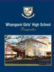 Prospectus - Whangarei Girls' High School