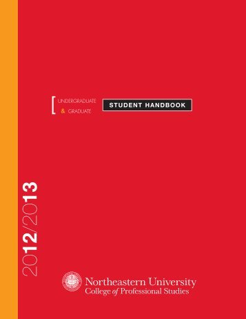 student handbook - Northeastern University College of Professional ...