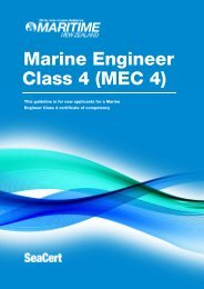 Marine engineer (class 4) certificate - Maritime New Zealand