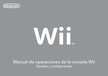 Manual de operaciones de la consola Wii