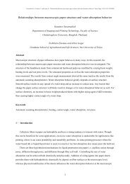 Relationships between macroscopic paper structure and water ...
