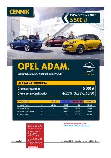CENNIK - Adam - Opel Dixi-Car