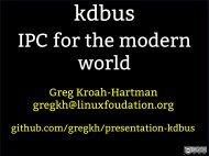 Greg Kroah-Hartman gregkh@linuxfoudation.org - The Linux ...
