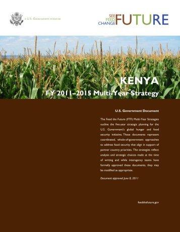 Feed the Future Multi-Year Strategy, Kenya, Public
