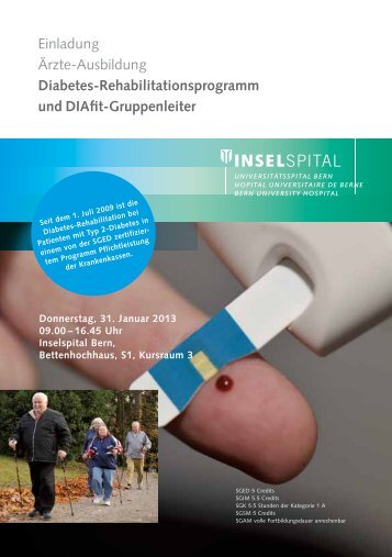Diabetes-Rehabilitationsprogramm und DIAfit-Gruppenleiter