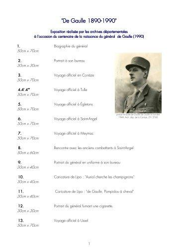 De Gaulle, 1890-1990.pdf - Archives départementales Corrèze