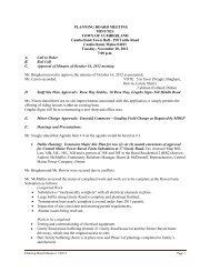 PLANNING BOARD MEETING MINUTES TOWN OF CUMBERLAND ...