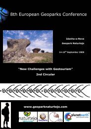 8th European Geoparks Conference - Global Geoparks Network