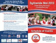 2013 Syttende Mai Brochure - Norway House