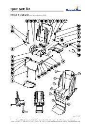 Spare parts list EASyS 2 seat unit - Tendercare Ltd