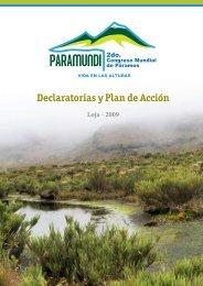 Declaratorias y Plan de Acción - InfoAndina