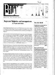 Regionale Tätigkeits- und Lernagenturen - Dienstleistungsnetzwerk ...
