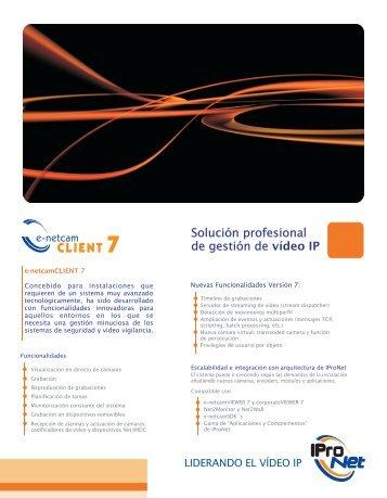 Información e-netcamCLIENT 7 - IProNet Sistemas