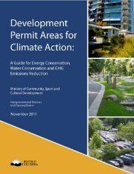 Development Permit Areas for Climate Action : A guide - Waterbucket