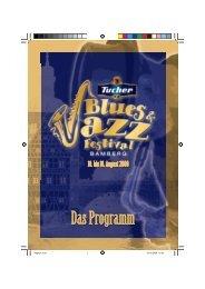 DAS PROGRAMM - Blues- & Jazz-Festival - Stadtmarketing Bamberg