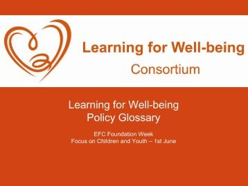 Presentation of the Policy Glossary on Well-being - European ...