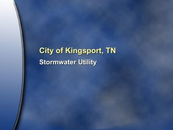Stormwater Utility Information - The City of Kingsport