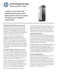 HP t510 Flexible Thin Client Series - 01 Content Management