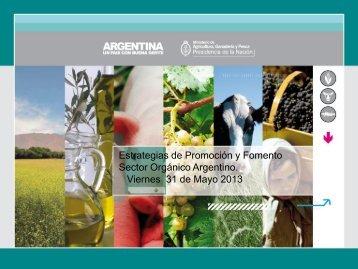 Estrategias de Promoción y Fomento Sector Orgánico Argentino.