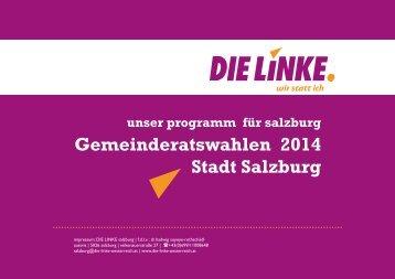 Gemeinderatswahlen 2014 Stadt Salzburg