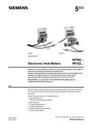 5333 Electronic Heat Meters WFM2... WFQ2...