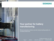 Integrated Automation Considerations in Battery Manufacturing