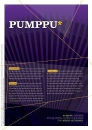 PUMPPU* - Teosto