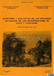 inventario y evaluación de los recursos naturales de las ...