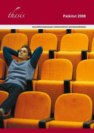 Thesis Palkitut 2008 -julkaisu - Oamk