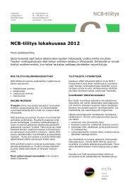 NCB-tilitys lokakuussa 2012 - Teosto