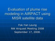 Evaluation of plume rise modeling in AIRPACT using MISR satellite ...