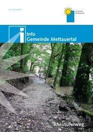 Info Gemeinde Mettauertal Nr. 013